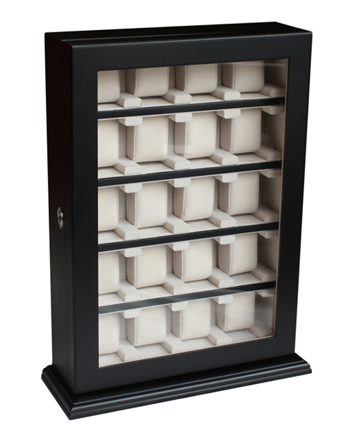 20 Watch Storage Cabinet Black