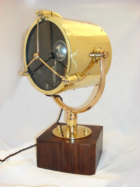 "Vintage 9"" Brass Francis Searchlight 1947"