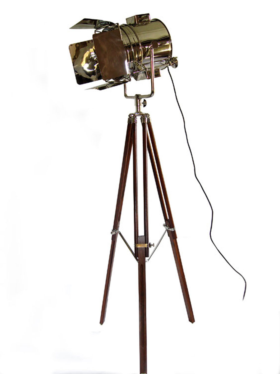 The Chaplin Tripod Studio Spotlight Floor Lamp