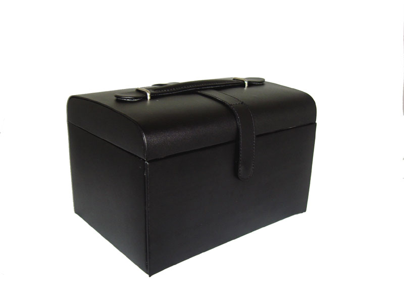Black Leather Jewellery Case
