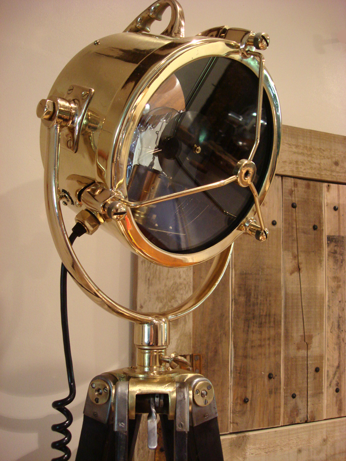 "Vintage 9"" Brass Francis Searchlight 1954"