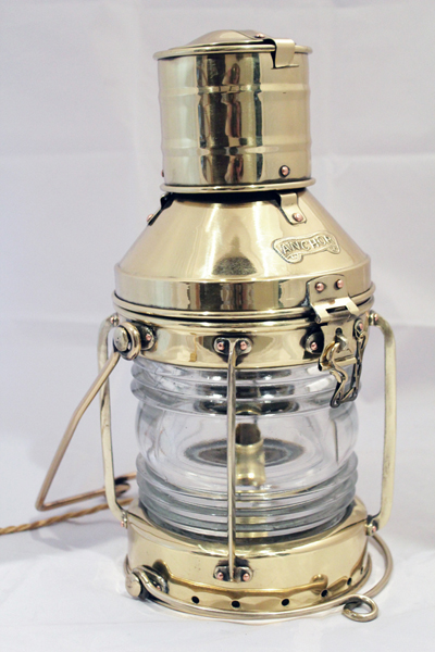 Vintage Brass Anchor Light