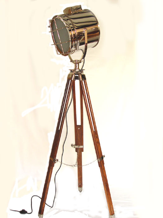 The Brompton Tripod Searchlight Floor Lamp