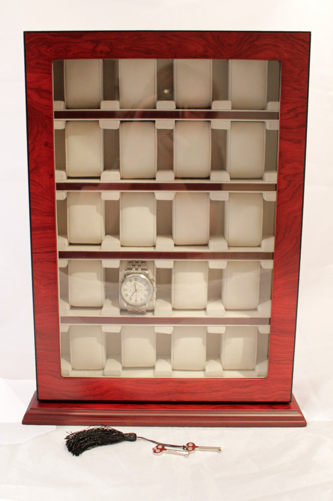 20 Watch Storage Cabinet Rosewood