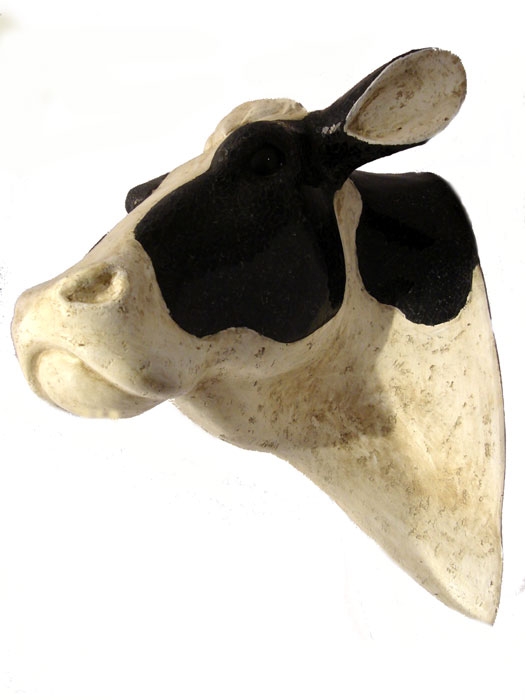 3D Friesian Cow Head Wall Hanging