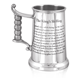 King's Shilling Heavy Weight Pewter Tankard