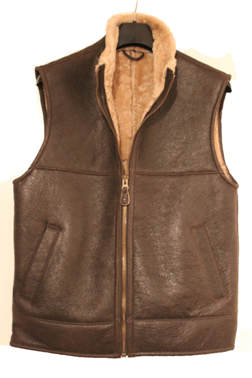 Aviator Finished Sheepskin Gilet