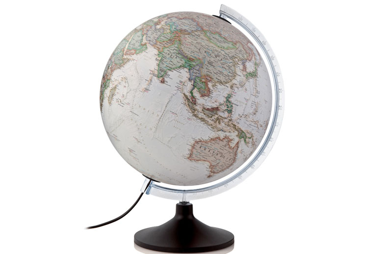 Globe - National Geographic Carbon illuminated