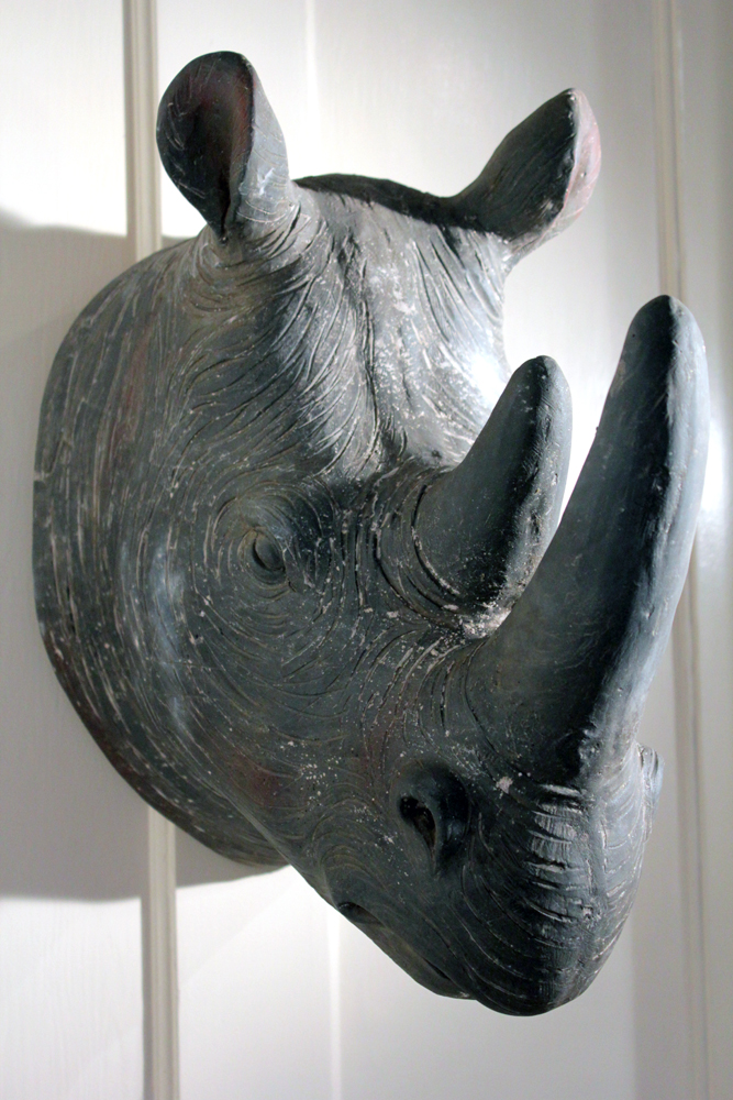3D Rhino Head Wall Hanging