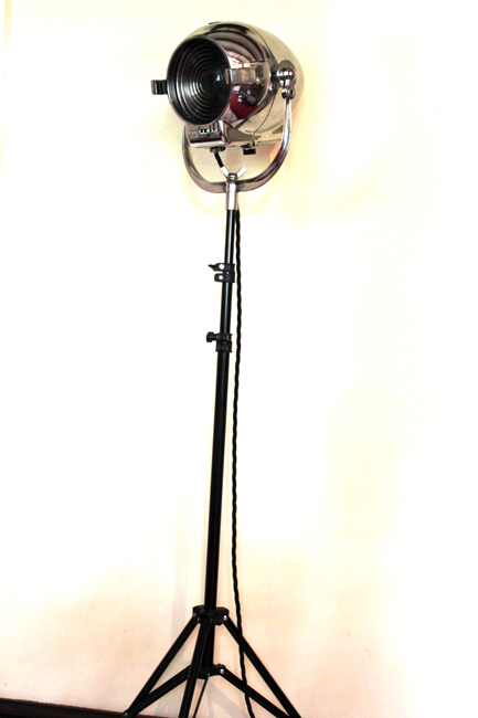 Vintage Strand PATT 123 Theatre Light on Studio Stand