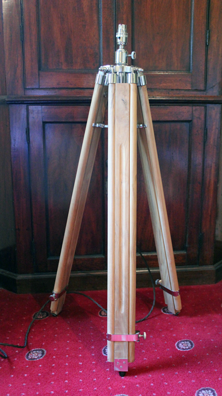 Teak Tripod Floor Lamp