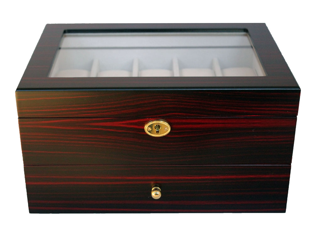 20 Watch Display Box Ebony Coromandel
